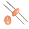 Twin 2-hole Bead 2.5x5mm Orange Dyed